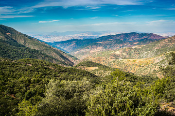Mountains in National park Tazekka in Morocco, Africa