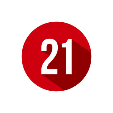 21 icon number design vector