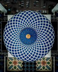 Aerial view of dome mosaic