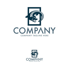 Creative Crocodile Logo Design Vector
