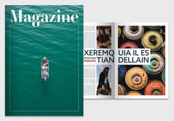 Magazine with Geometric Elements Layout