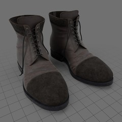 Worn leather boots