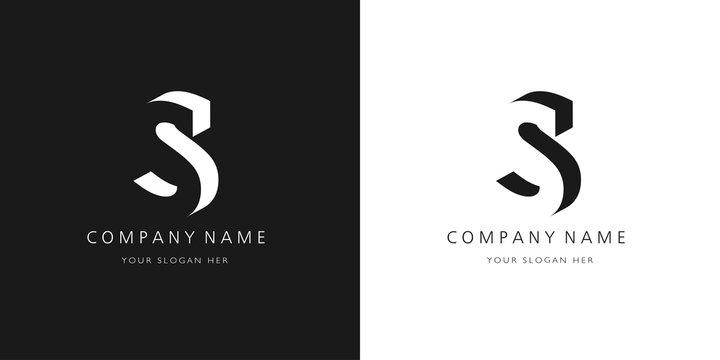 s logo, modern 3d design letter character