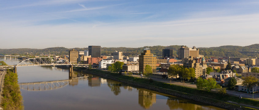 Looking Down the River in Front of Charleston West Virginia