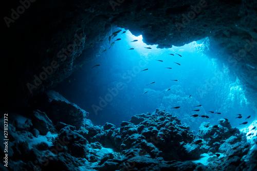 Fototapete Underwater cave