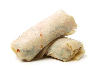 Burrito on a white background