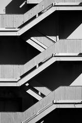Fine Art Modern Stairway Pattern - Black and White