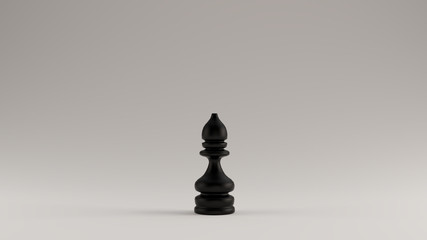 Black Chess Bishop Piece 3d illustration 3d rendering Wall mural