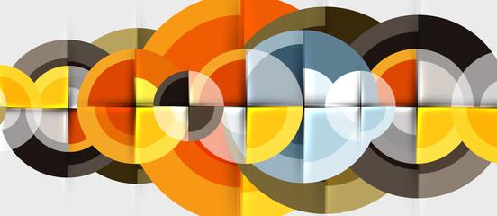 Circular geometrical design template Wall mural