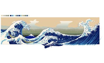 風景・海・波
