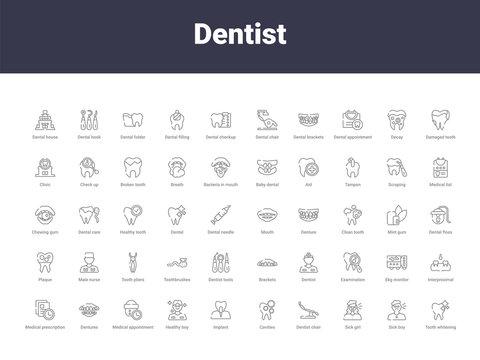 dentist outline icons
