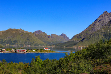 On a road trip in the Lofoten area, as well as some mountain walks