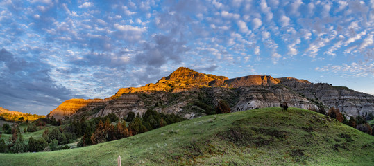 The Landscape Views of Theodore Roosevelt National Park in July