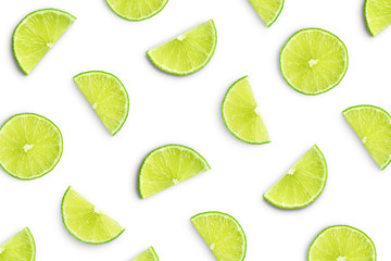 Wall Mural - Lime slices as pattern