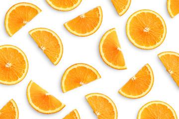 Wall Mural - Orange slices as pattern