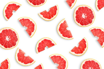 Wall Mural - Grapefruit slices as pattern