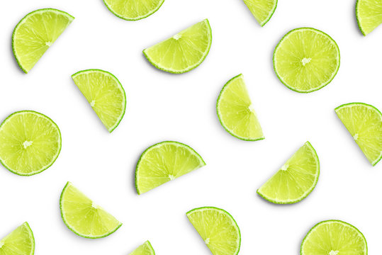 Lime slices as pattern
