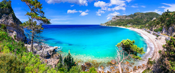 Best beaches of Samos island - beautiful Potami near Karlovasi town, Greece