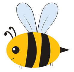 Fat bumblebee, illustration, vector on white background.