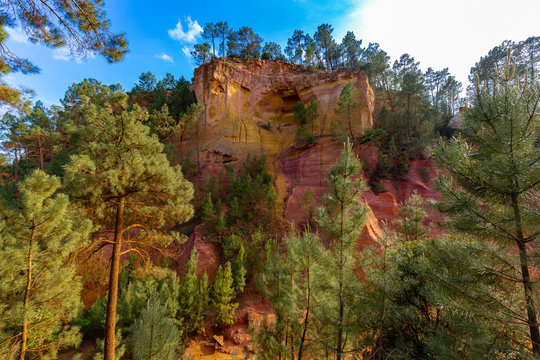 Ochre rocks in Roussillon