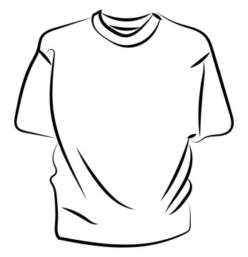 Shirt drawing, illustration, vector on white background