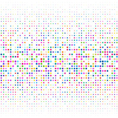 White background with multicolored dots