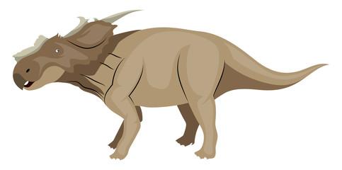 Achelousaurus, illustration, vector on white background.