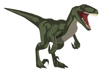 Velociraptor, illustration, vector on white background.
