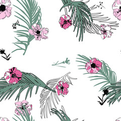 Seamless floral pattern. Flowers texture