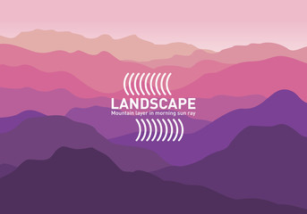 Abstract landscape. Minimalist style. Vector banners landscape illustration - flat design