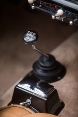 Recess Fitting Vintage cars Gear shifter of a vintage car
