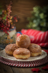 Small donuts with icing.