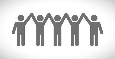 people hands up icon