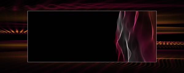 Powerful wave panorama background design illustration