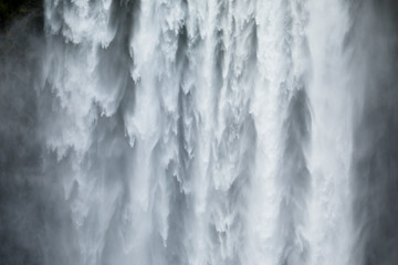Close-uo of Skogafoss waterfall in Iceland, Europe. Wall mural