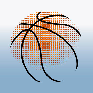 Isolated abstract basketball ball on a colored background - Vector