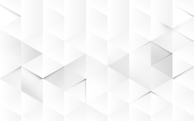 Wall Mural - Abstract white geometric 3d interior background. vector illustration
