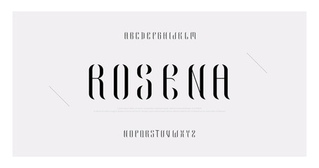 Elegant alphabet letters font and number. Classic Lettering Minimal Fashion Designs. Typography fonts serif uppercase. vector illustration Wall mural