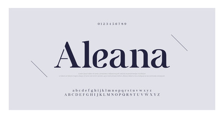 Elegant alphabet letters serif font and number. Classic Lettering Minimal Fashion. Typography fonts regular uppercase, lowercase and numbers. vector illustration Wall mural