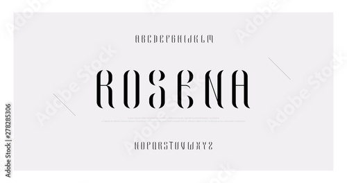 Elegant alphabet letters font and number  Classic Lettering