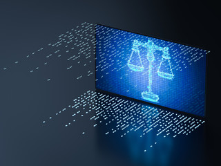 Cyber law concept