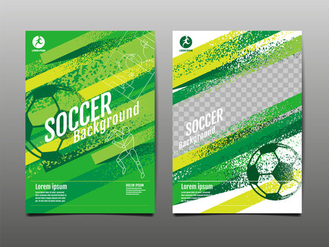 Template Sport Layout Design, grunge Design, Brush ,speed,  Graphic Illustration, Football, Soccer, Vector Illustration.