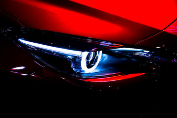 headlight of modern car