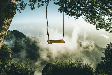Swing into the clouds.