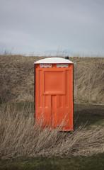 Single toilet unit in nature