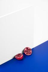 Minimal Still Life with Pomegranate