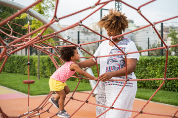 Mother and Child At The Playground