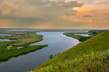 Sunset on the Danube river - Image