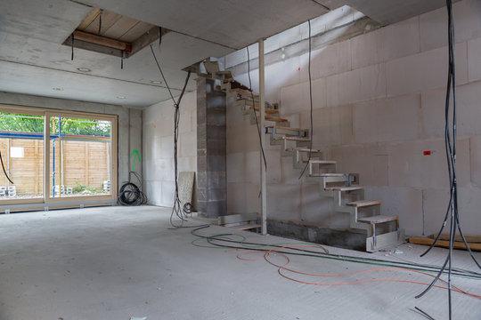 Baustelle Innenaufnahme Gebäude im Bau