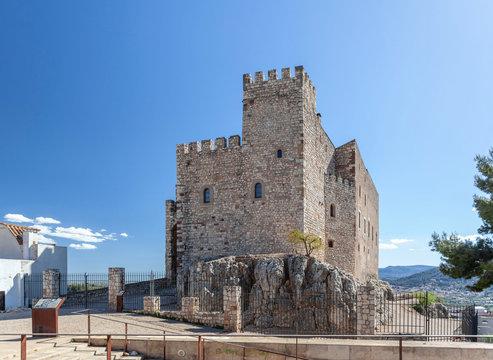 Ancient medieval castle of village El Papiol, Catalonia, Spain.